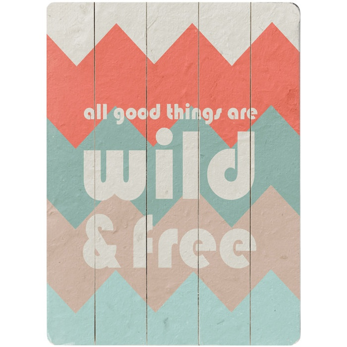 """All good things are wild and free"" wall art... LOVE the chevron"