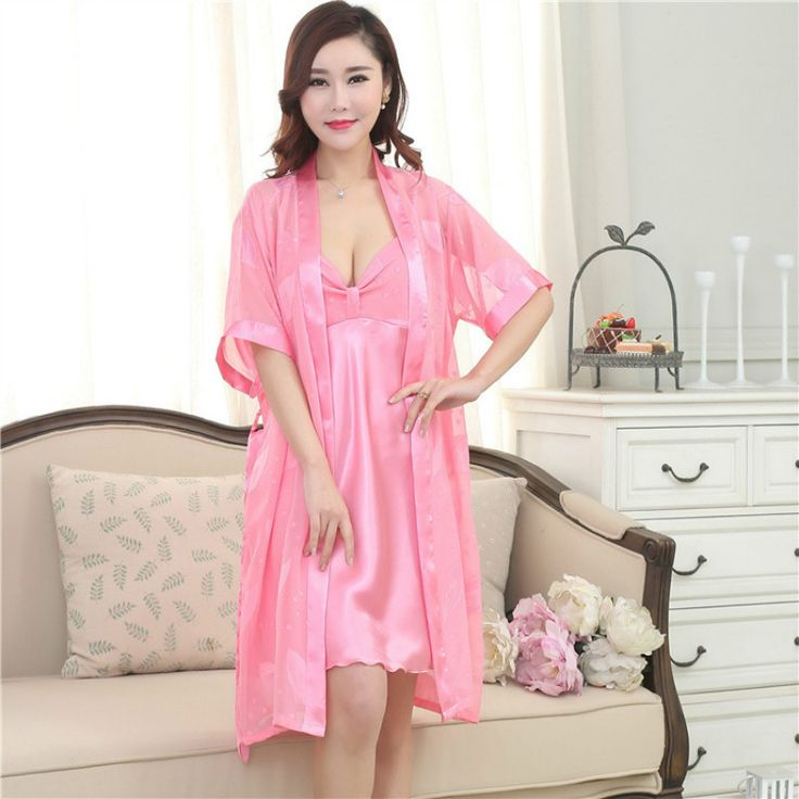 Women Open Front Lingerie Sleepwear Robe Set Ladies Long Sexy Lace Der Junge Im Gestreiften Pyjama Adult Nightgown Pijamas Mujer