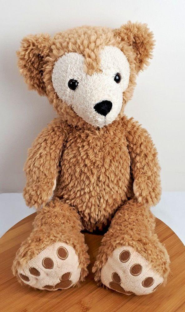 Disney Parks Duffy Bear Hidden Mickey Plush Light Brown Tan Teddy Size 17 Inches Disney Hidden Mickey Teddy Plush