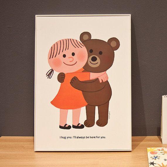 Hug  goolygoolys artworks make you smile. by goolygoolyshop