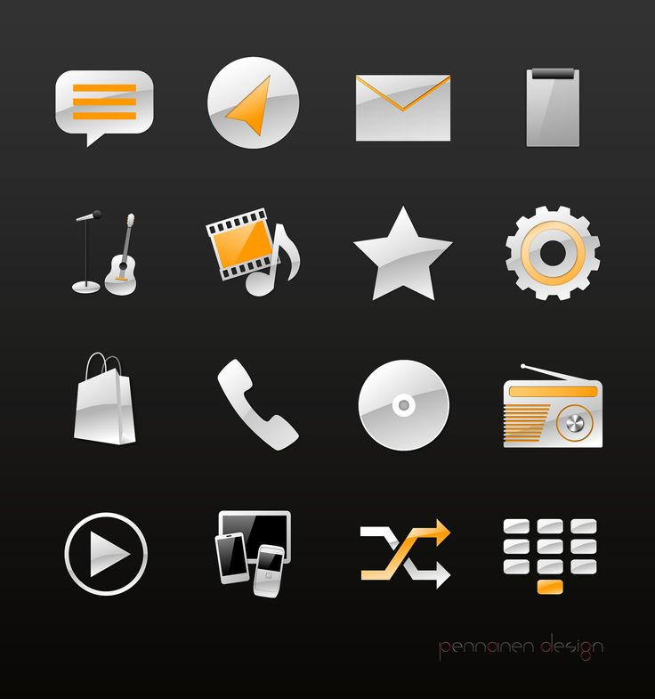 Icon design for app concept for a client - by Pennanen Design