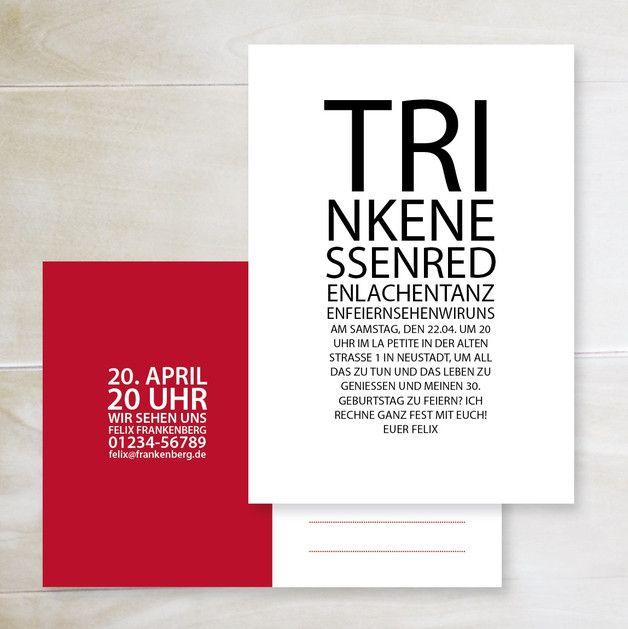 Happy Birthday to you! Frisches Design für deine originellen Geburtstagseinladungen gibt's bei uns. Schicke uns einfach deinen Einladungstext per Mail und wir gestalten ganz besondere Karten für...