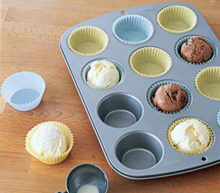Pre-scoop ice cream into cupcake liners for parties in advance.