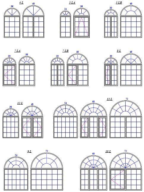 Round top window design pvc half round windows view for 12 round window