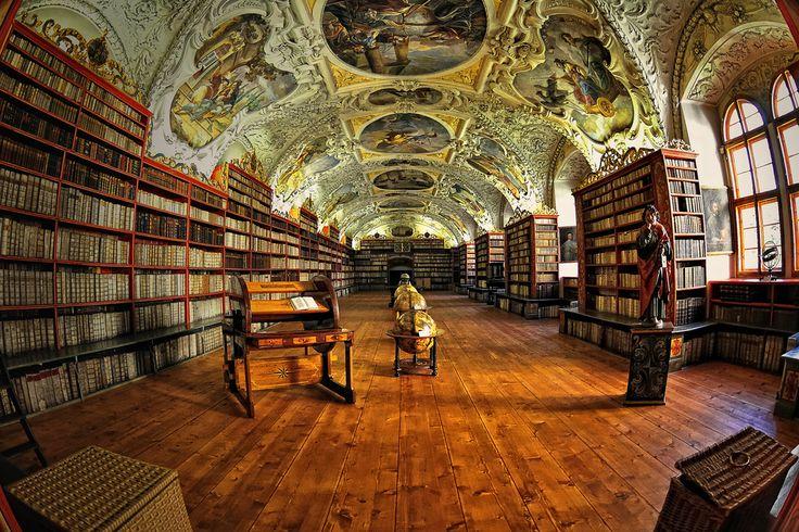 Sala Teológica del Monasterio Strahov I. Praga (Fisheye Vision)