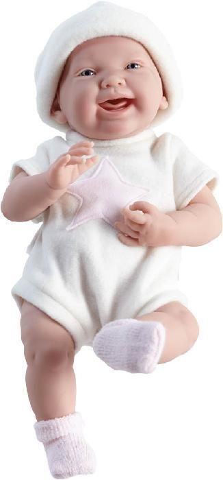 Panenky Berenguer | Realistické miminko - holčička - Eliška v krémovém oblečku od firmy Berenguer | Realistické panenky a miminka jako živá ze Španělska a dřevěné hračky