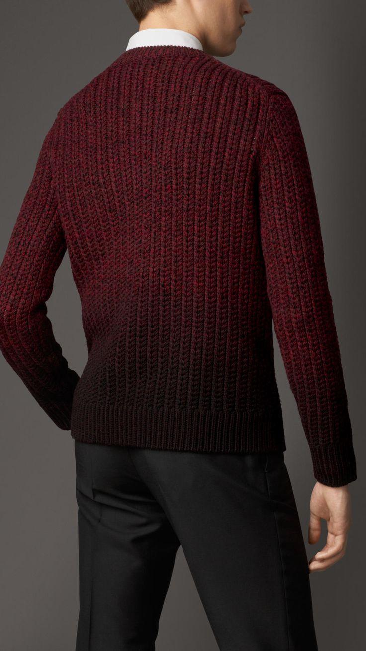 Pull en laine mérinos teint par immersion   Burberry