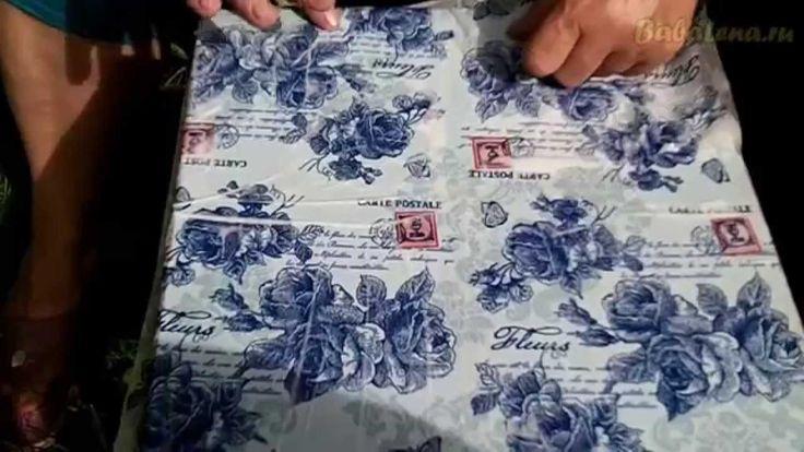 Клеим целую салфетку без складок на густой ПВА