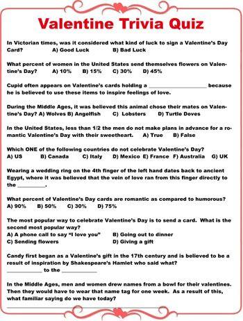 Valentines Day Quiz Ideas Valentine Decor Pinterest Valentines