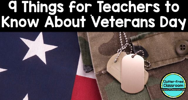 Veterans Day Read Aloud Ideas and Veterans Day Packet from Clutter-Free Classroom