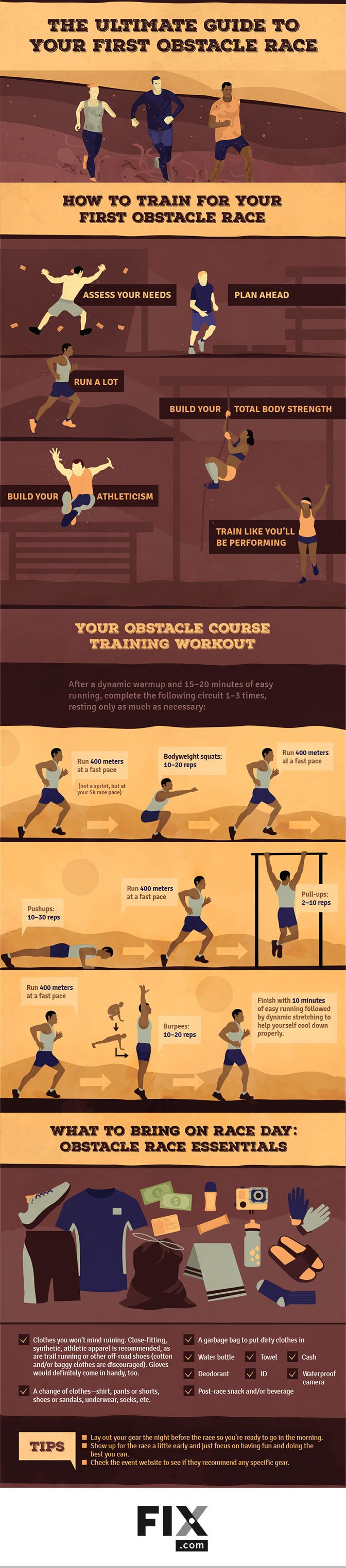 The Ultimate Guide to Your First Obstacle Race #infographic #Running #Sports