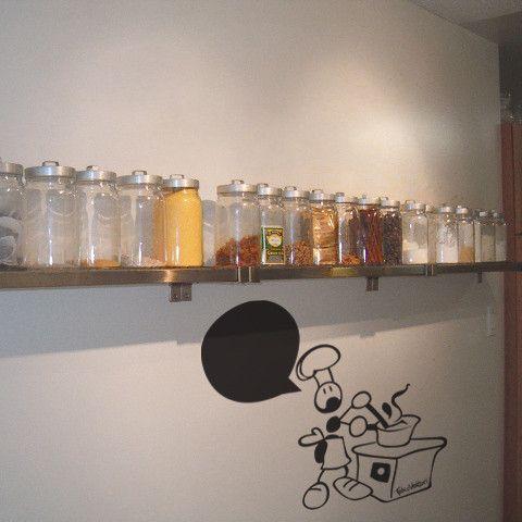 Cuoco su parete.  #formiche #sticker #cucina #idee