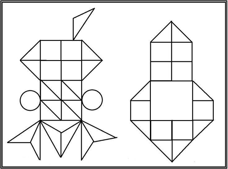 * Mozaïek: Op gekleurd papier afdrukken mozaïek erop laten leggen of laten op- na-plakken. 7-9