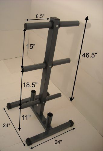 Olympic Weight Plate Tree w/ 2 Bar Ho... $59.99 #topseller