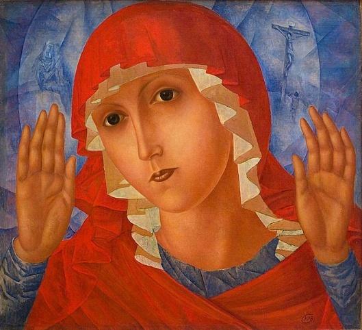 """Mother of God""...Kuzma Petrov Vodkin"