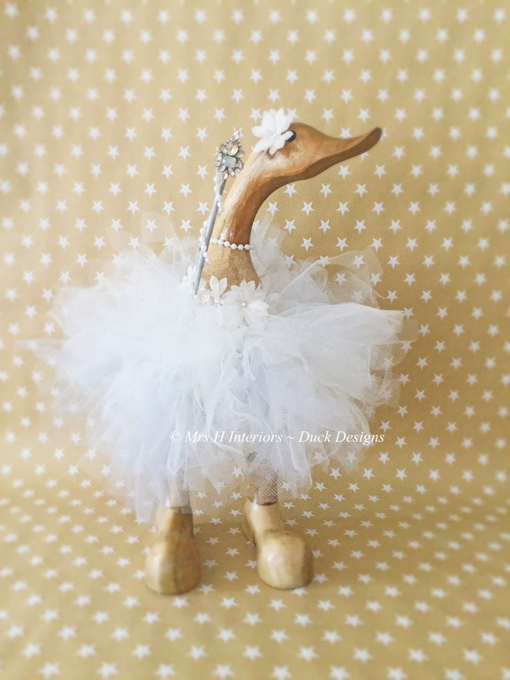 Winie the wishing duck. Hand tied tulle tutu, flower bodice and jewelled wand  Mrs h Interiors