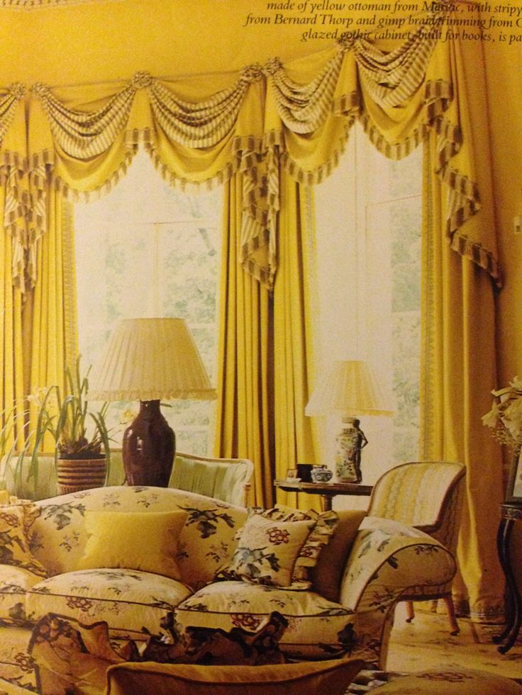 English Drawing Room: Drawing Room Curtains