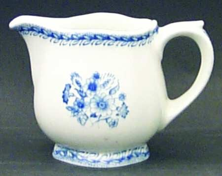 """Awesome! 3 1/4"""" Creamer (8 OZ) : Finn Flower-Blue (White Backgound) : by Arabia of Finland... made between 1955 - 1970 found at #goodwill for 1.99 worth $24.99 woooo!"""