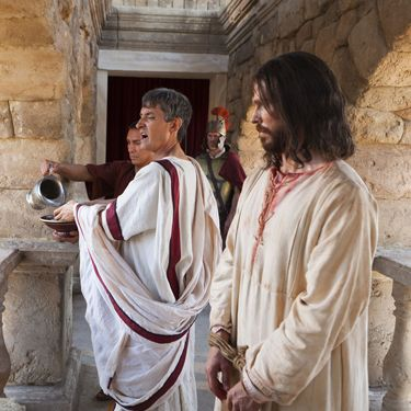 lds bible videos - Pilate presents Jesus to the people - Matthew 27:17-26 KJV