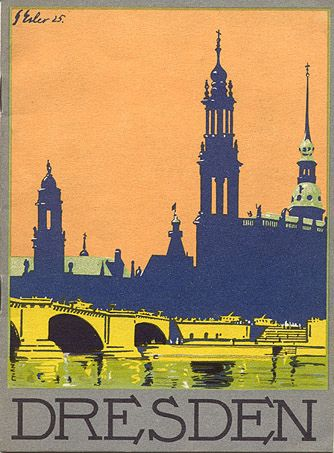 Spent an eventful day here with Martine.    Dresden travel brochure (c. 1925)
