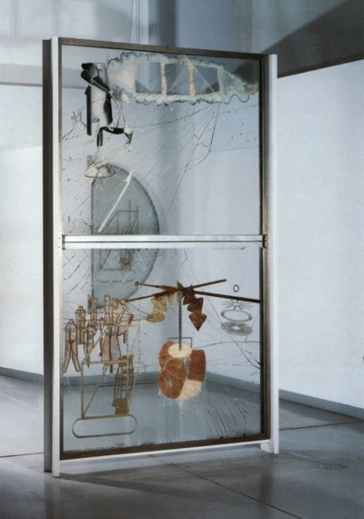 Bride Stripped Bare By Her Bachelors, Even (The Large Glass) - Marcel Duchamp, 1915-23
