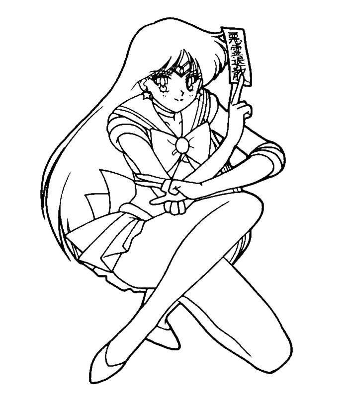 27 best images about Sailor Moon color pages on Pinterest