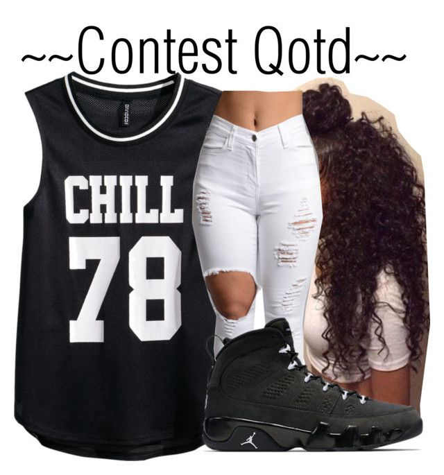 """""""::Qotd::"""" by be-you-tiful-flower ❤ liked on Polyvore featuring H&M, women's clothing, women, female, woman, misses, juniors and jayseek"""