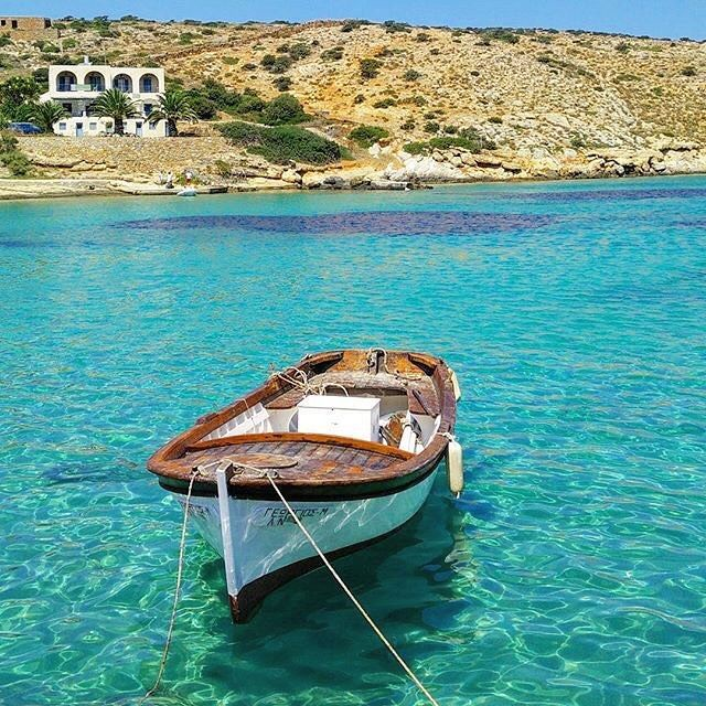 So beautiful Greek traditional boat , at Iraklia island (Ηρακλειά). Small paradise with crystal-clear waters and relaxing atmosphere !