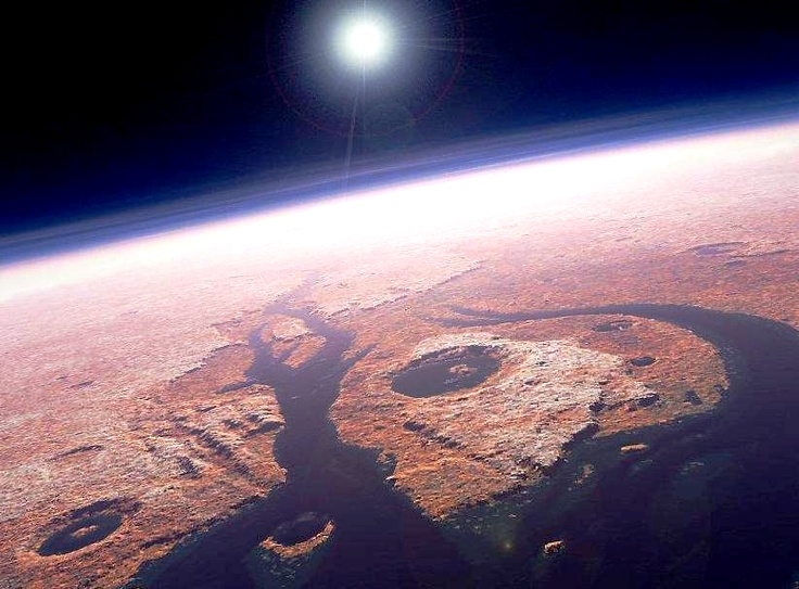 somewhere on Mars . .