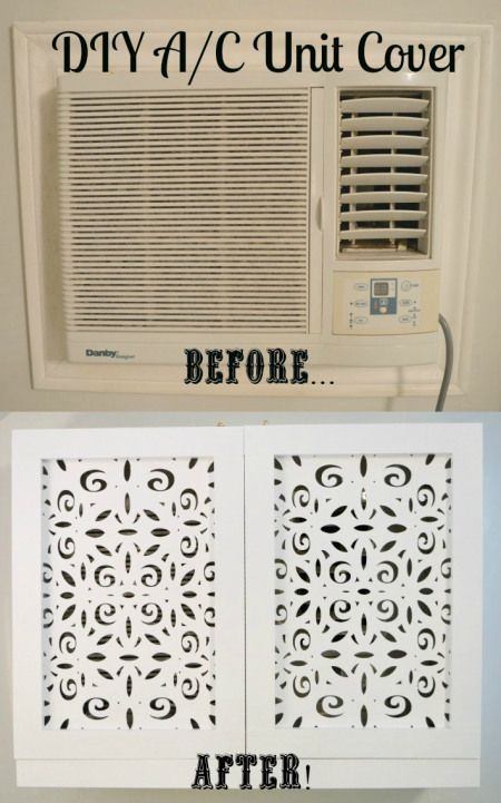 DIY air conditioner unit cover. We have central air, but whatever - this is a good idea so I'm pinning it anyway. :-)