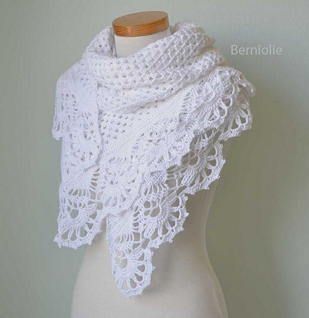 Victoria shawl / wrap by Bernadette Ambergen, crochet pattern: Knits Crochet, Victoria Crochet, Crochet Shawl Patterns, Google Search, Crochet Scarves, White Lace, Crochet Patterns, Crochet Knits, Crochet Scarfs