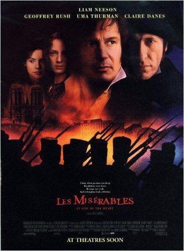 Os Miseráveis (1998 - de Bille August - com Liam Neeson, Geoffrey Rush,  Uma Thurman, Claire Danes, Hans Matheson, Peter Vaughan, Kelly Hunter, Toby Jones)