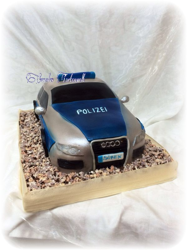 polizeiauto kuchen torte police car cake birthday cake. Black Bedroom Furniture Sets. Home Design Ideas