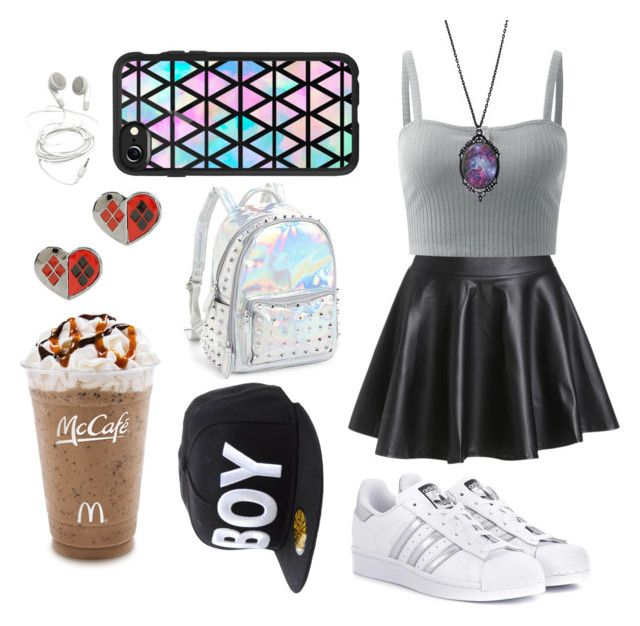 """."" by luanamoreira047 on Polyvore featuring adidas Originals, Casetify, Hot Topic, Bari Lynn and BOY London"