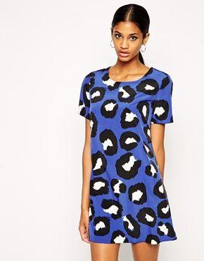 Enlarge John Zack Shift Dress In Leopard Print