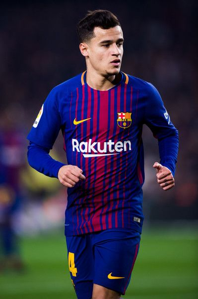 Philippe Coutinho of FC Barcelona runs during the Spanish Copa del Rey Quarter Final Second Leg match between FC Barcelona and RCD Espanyol at Camp Nou stadium at Camp Nou on January 25, 2018 in Barcelona, Spain.