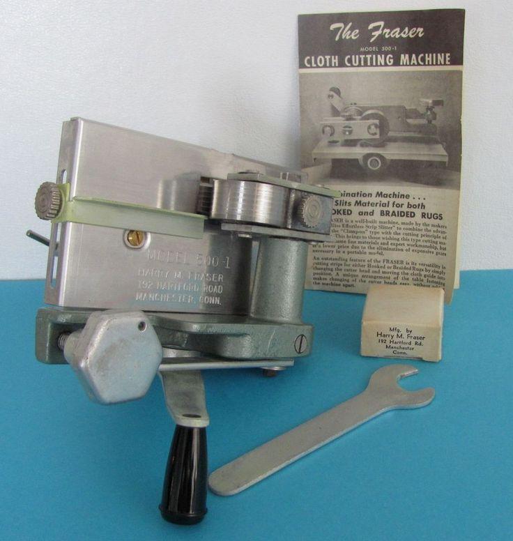 Harry M Fraser Cloth Cutter Machine Model 500 1 Ter Rug Hooking 3 4 Head