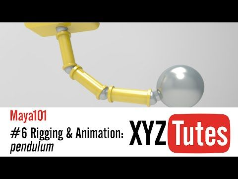 MAYA101: #6 Rigging & Animation, Pendulum. - YouTube