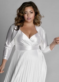 Plus Size Fashion This would make a lovely wedding gown for older bride.