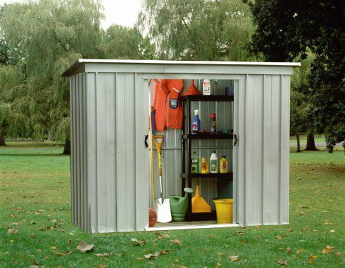"Belfast 9' 2"" x 3' 4"" Pent Metal Shed   FREE ANCHOR KIT"