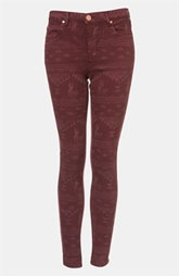 Topshop Moto 'Leigh' Andean Print Skinny Jeans