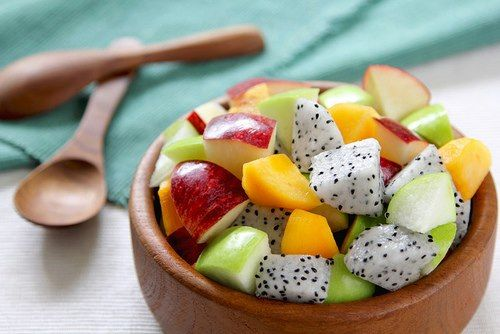 Start your day with a fruit salad full of essential vitamins for a healthy kick start :D