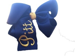 Pitt Game Day Bow! I wear mine to football games and for recruitment programs! Use my campus rep code, kelseyk, in the coupon box at checkout! Hail to Pitt!!!
