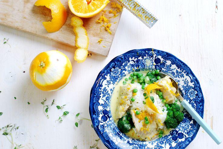 Fisk i apelsinsås