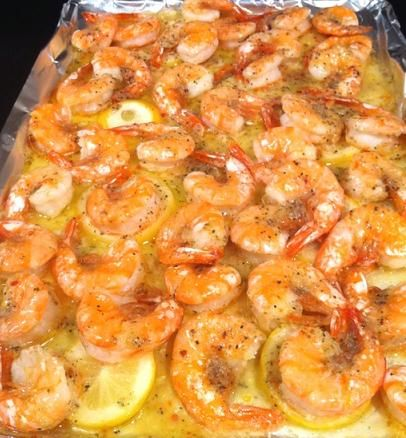 Made this last night! Think I'll leave out the lemon next time it was a little over powering! Ingredients : Fresh shrimp  1 stick Butter 1 pack dry Italian season  Directions: Melt stick of butter and pour in pan, lay down shrimp and sprinkle with Italian seasoning, cut lemon and layer on top! Bake for 15 minutes at 350 degrees!