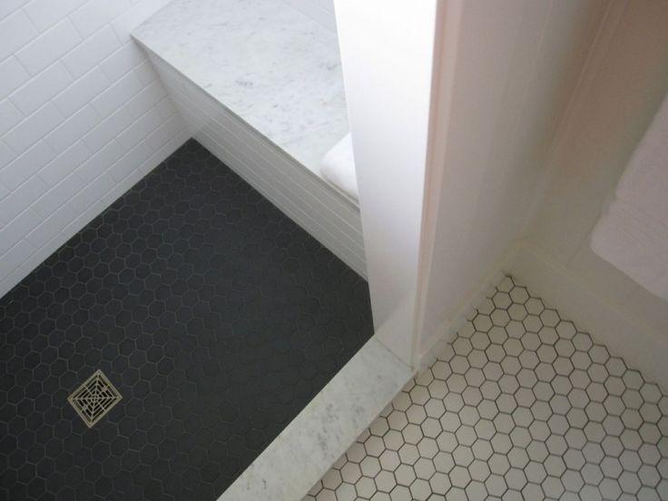 25 Best Ideas About Black Hexagon Tile On Pinterest Subway Tile Bathrooms