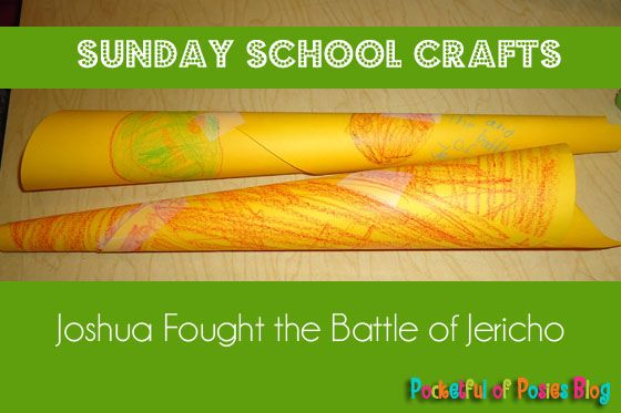 """Lesson 10- Make this simple horn craft to help kids remember the story of """"Joshua Fought the Battle of Jericho."""""""