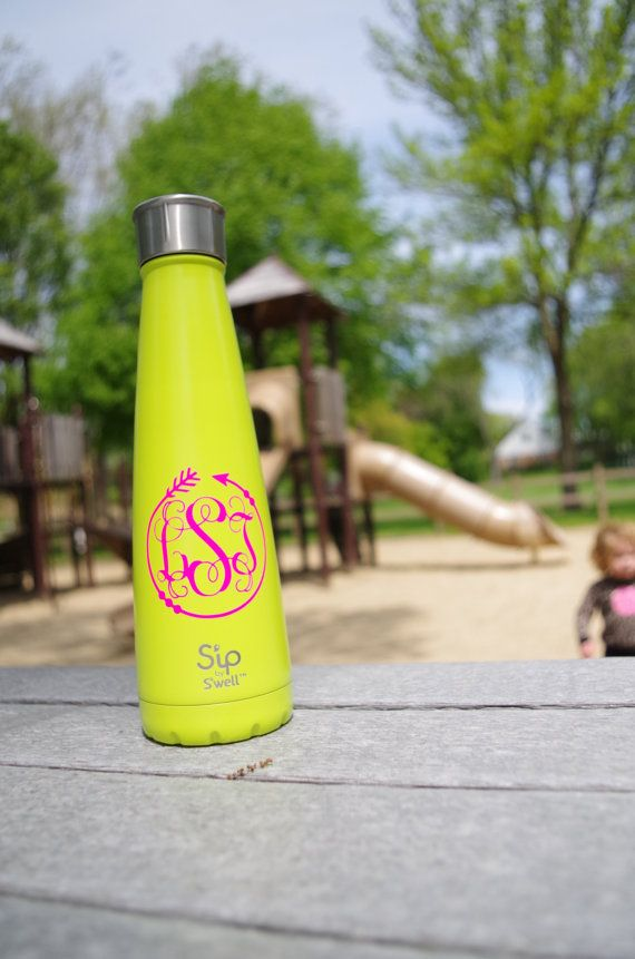 Monogrammed Swell Bottle Sip by Swell Bottle by YepErDoodles