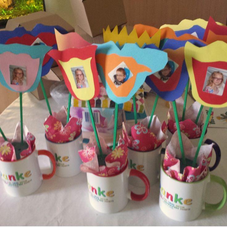 Kindergarten-Abschiedsgeschenk große Blumen (©Tulpentopf)