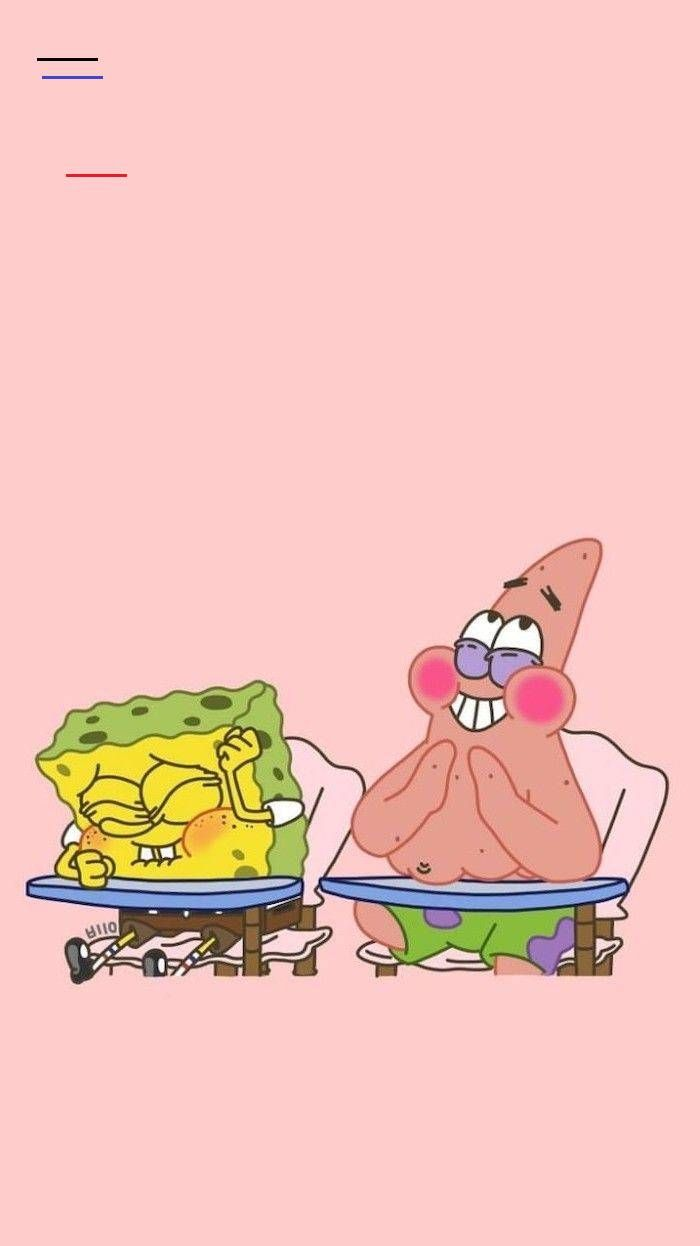 1001 Amazingly Cute Backgrounds To Grace Your Screen Spongebob Squarepants Patrick Star In 2020 Wallpaper Iphone Cute Spongebob Wallpaper Funny Iphone Wallpaper